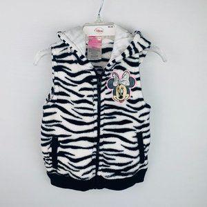 Disney Fleece Zebra Striped Sleeveless Jacket 4